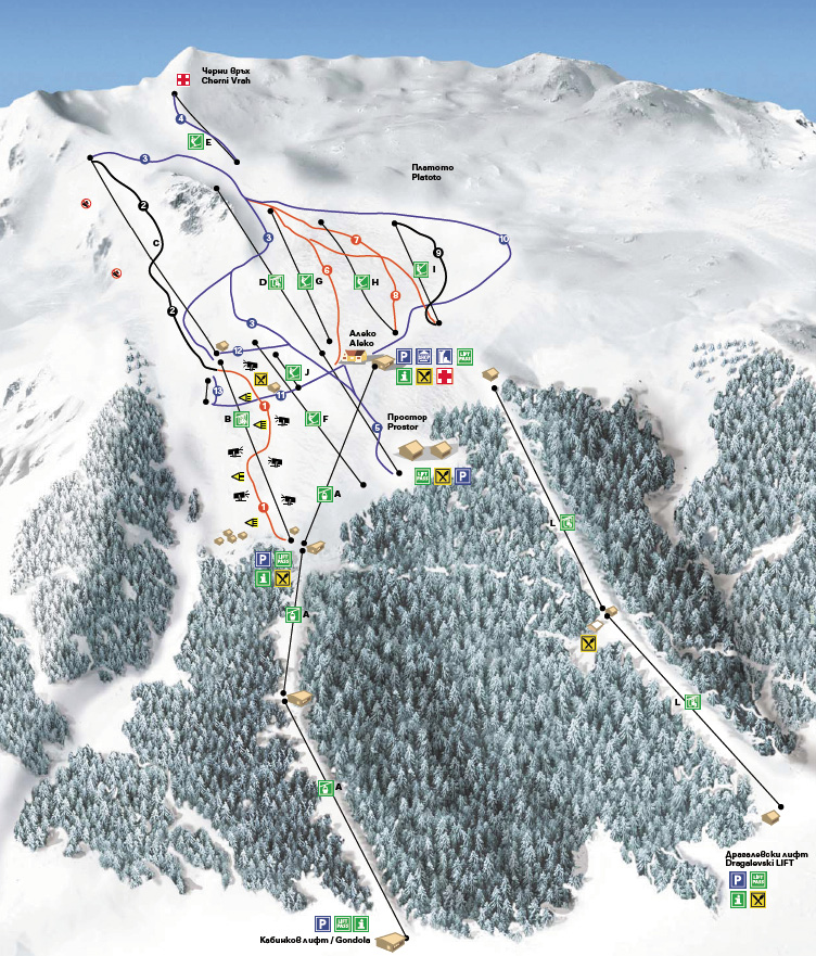Over The Weekends In The Winter The Area And The Ski Run Near The Aleko Chalet Become Overcrowded Ski Rents Are Available Near The Runs Or In The Hotels